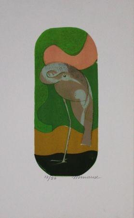 Litografía Minaux - L'échassier / Wading Bird