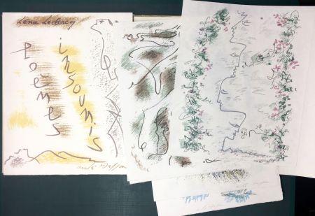 Libro Ilustrado Masson - Léna Leclercq. POÈMES INSOUMIS. 10 lithographies signées (1963)