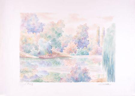 Litografía Cavalle - L'étang