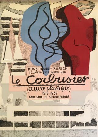 Litografía Le Corbusier - L'Œuvre Plastique, Kunsthaus Zürich  (hand-signed)