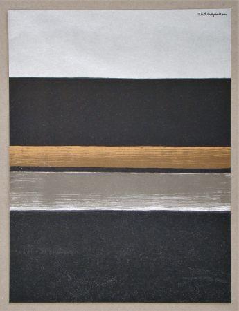 Litografía Bergmann - L 11 - 1970 Horizon noir
