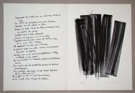 Litografía Hartung - L 162, 1965