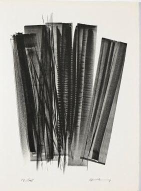 Litografía Hartung - L 162 (Jean Cassou: vingt-deux poèms)