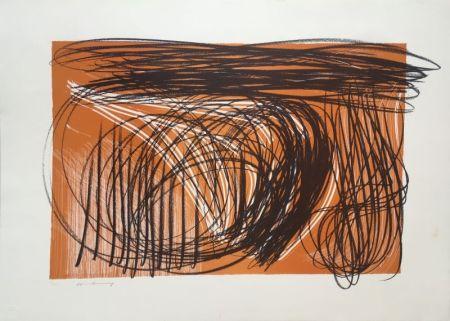 Litografía Hartung - L 1971-1