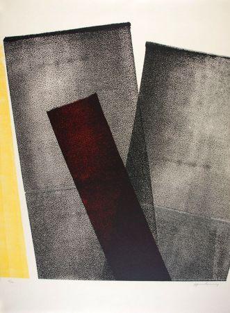 Litografía Hartung - L 1977-10