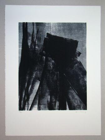 Litografía Hartung - L 1977 - 4