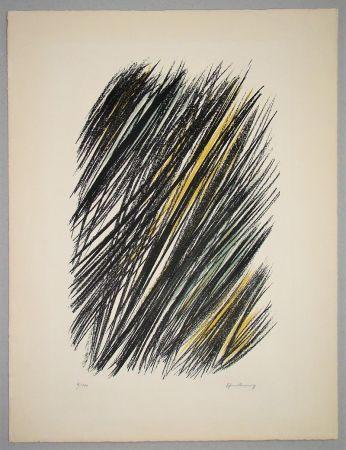 Litografía Hartung - L 19 - 1957