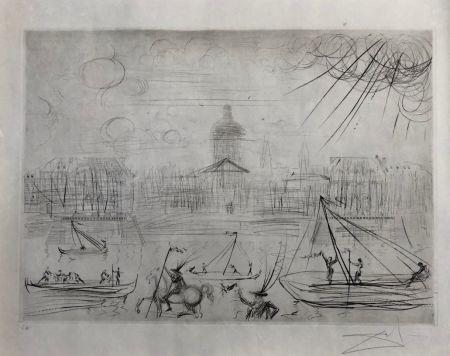 Aguafuerte Dali - L' Academie des beaux arts