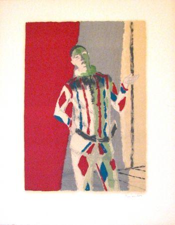 Litografía Brianchon - L' arlequin, from Souvenirs de Portraits d'Artistes - Jacques Prévert: Le coeur à l'ouvrage