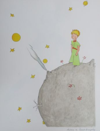 Litografía Saint-Exupéry - L asteroïde B-612