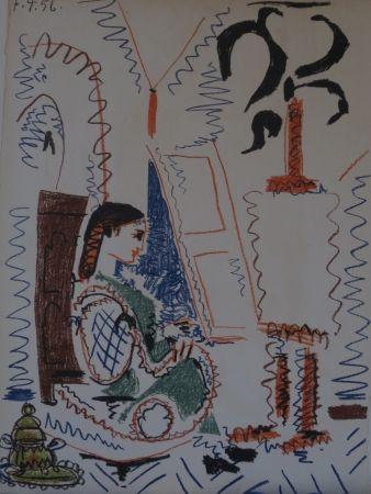Litografía Picasso -  l 'atelier de Cannes