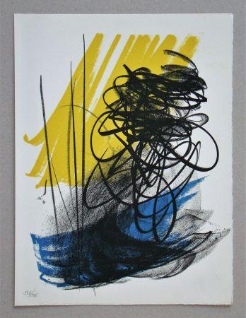Litografía Hartung - L différée - 2, 1964