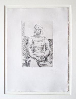 Grabado Picasso -  L' Italienne (s. ta130) Femme au Livre