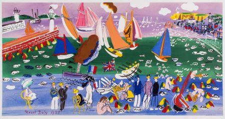 Litografía Dufy - LA BAIE DE SAINTE-ADRESSE (1935).