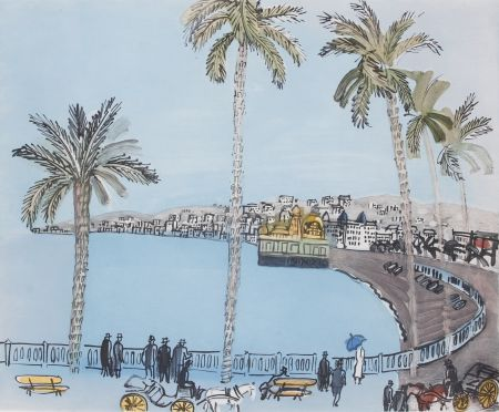 Aguatinta Dufy - La baie des Anges a Nice
