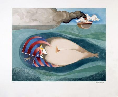 Aguatinta Marin - La Baleine