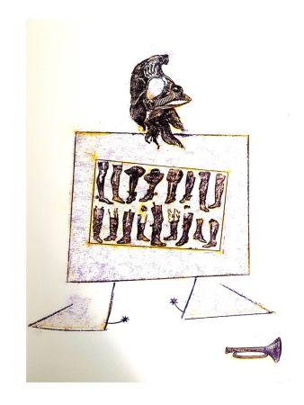 Litografía Ernst - La Ballade du Soldat