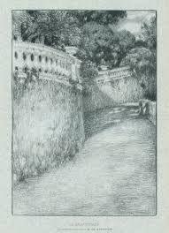 Litografía Le Sidaner - La balustrade