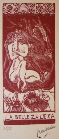 Litografía Pascin - La belle Zuleica