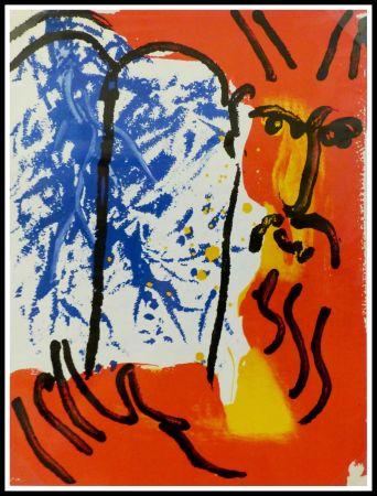 Litografía Chagall - LA BIBLE - MOISE I