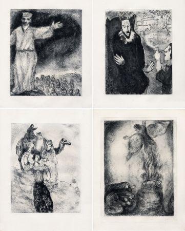 Aguafuerte Chagall - LA BIBLE. (Suite des eaux-fortes gravées de 1931 à 1939 - Tériade 1956).