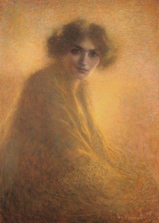 Sin Técnico Levy Dhumer - La Bienveilleante / The Kind Lady - Dessin Original / Original Drawing - PASTEL - 1917