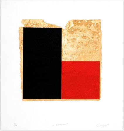 Aguafuerte Canogar - La Bienvenida (rojo)
