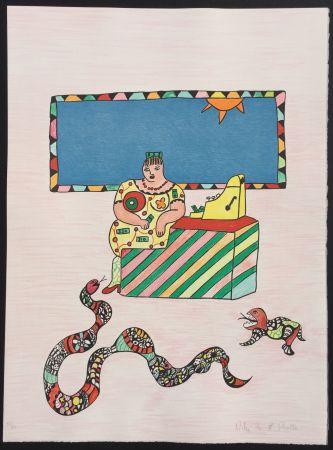 Litografía De Saint Phalle - La Caissiere (The Cashier)