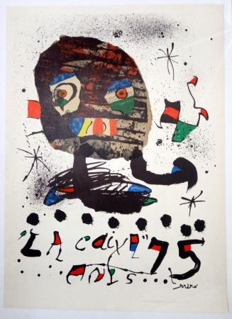 Cartel Miró - La Caixa 75 anys - 1979