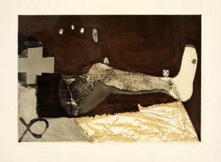 Aguafuerte Tàpies - La cama