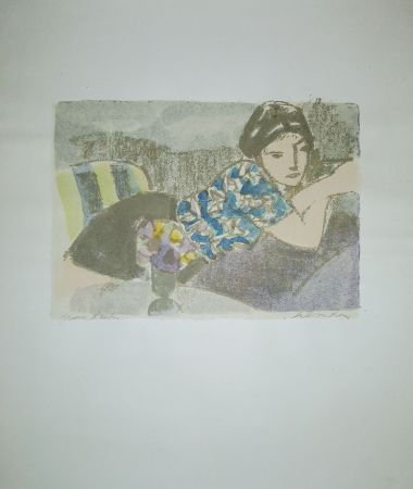 Litografía Salvadori - La camicetta blu