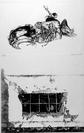 Aguafuerte Vespignani - La carcassa - Finestra sul cortile