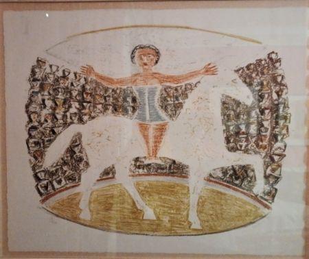 Litografía Campigli - La Cavallerizza