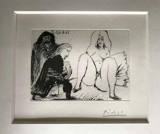Sin Técnico Picasso -  La Celestine, sa protegee, et un jeune gentilhomme