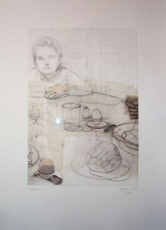 Aguafuerte López Garcia - La cena