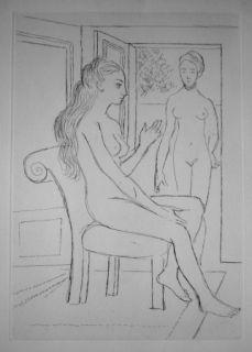 Grabado Delvaux - La chaise