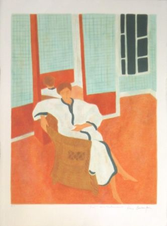Litografía Boncompain - La chambre a carreaux