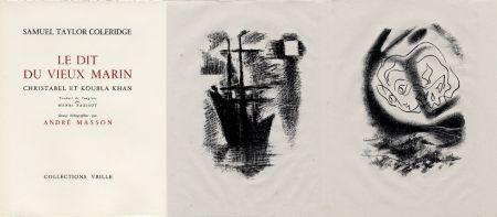 Libro Ilustrado Masson - LA CHANSON DU VIEUX MARIN.24 lithographies originales.