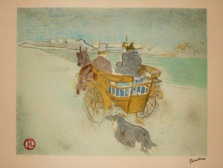 Litografía Toulouse-Lautrec - La charette anglaise