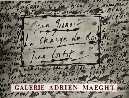 Litografía Cortot - La Charge du Roi