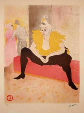 Litografía Toulouse-Lautrec - La clownesse assise