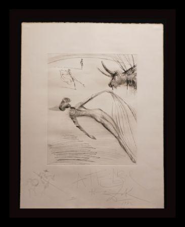 Grabado Dali - La Cogida y la Muerte with Original Drawing