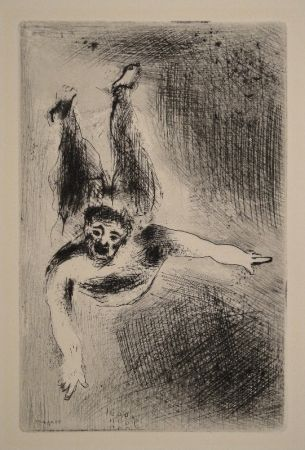 Grabado Chagall - La Colère II / Der Zorn II