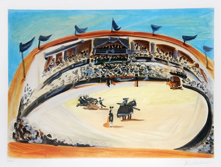 Aguatinta Picasso (After) - La corrida