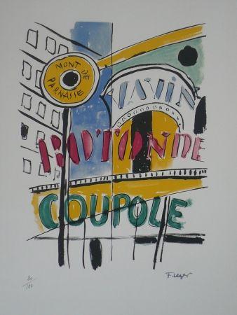 Litografía Leger - La Coupole