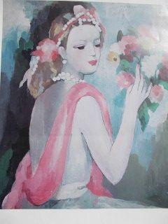 Cartel Laurencin - La Dame Et Le Bouquet