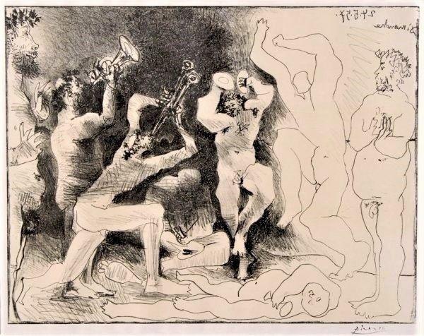 Litografía Picasso - La Danse des Faunes