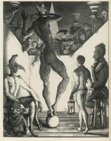 Aguafuerte Y Aguatinta Desmazières - La Danse du Diable