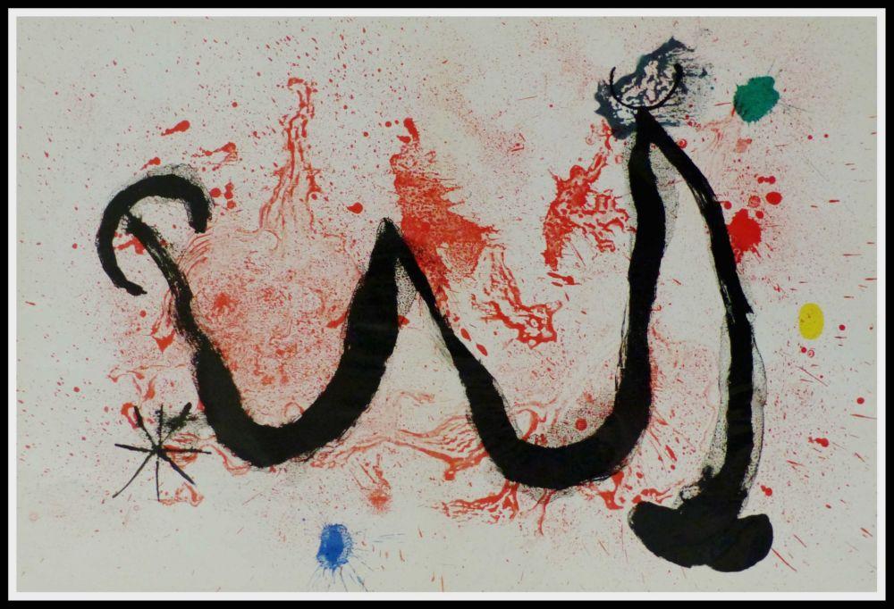 Litografía Miró (After) - LA DANSE DU FEU