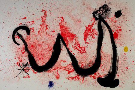 Litografía Miró - La danse du feu